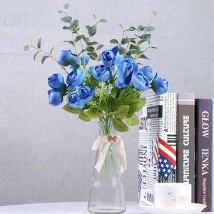 FLEUR ARTIFICIELLE 2pcs 10 Tete Bouquet de fleur artificielle mariage