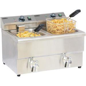 FRITEUSE ELECTRIQUE Friteuse électrique 2 x 8 litres avec vanne de …