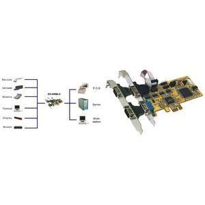 CARTE GRAPHIQUE INTERNE EXSYS Carte PCI-Express 16C950 RS-232 sérielle …
