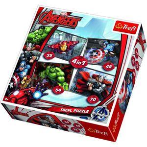 PUZZLE TREFL Puzzle 4 en 1 Avengers