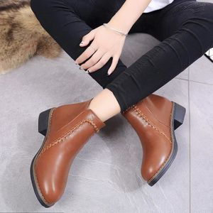 SLIP-ON oppapps9086 Chaussures plates Bottes femme chevill