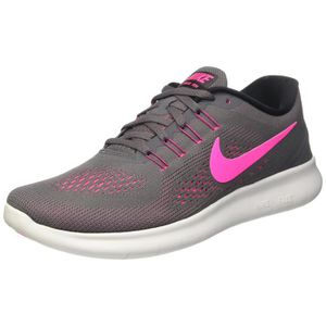 online store 69e7e ebf06 NIKE chaussures de course à pied free rn pour femmes gris foncé - rose  souffle HO26Q Taille-M