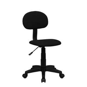 CHAISE DE BUREAU PENCIL Chaise de bureau - Tissu noir - Style conte