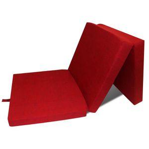 MATELAS Matelas Pliant en mousse portable Rouge pour maiso