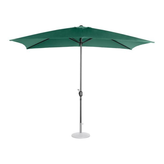 Parasol De Terrasse Protection Solaire Droit Manivelle Vert