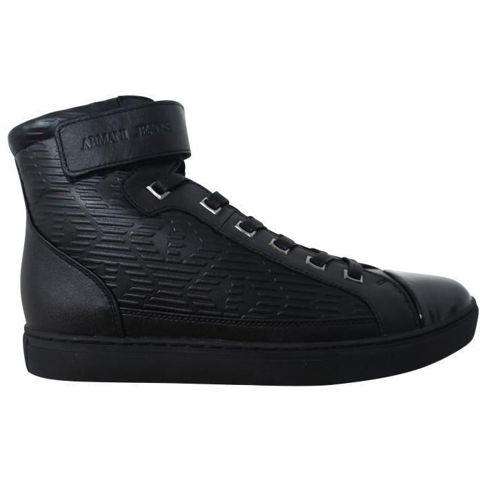 fa93a696a40 Basket Armani jeans noire montante B651638 Noir - Achat   Vente ...