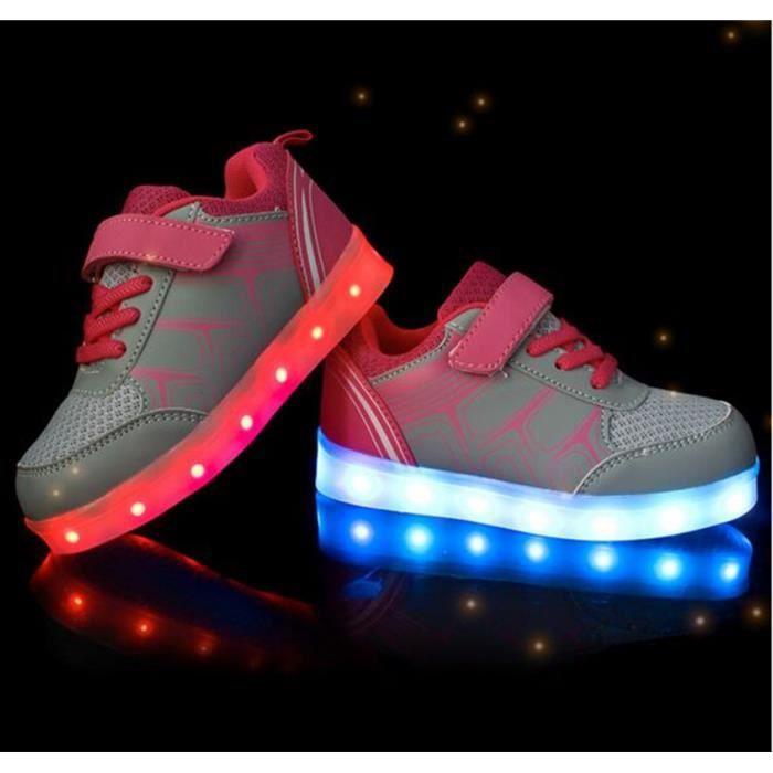 USB Charge LED Éclairage Enfant Chaussure Velcr...