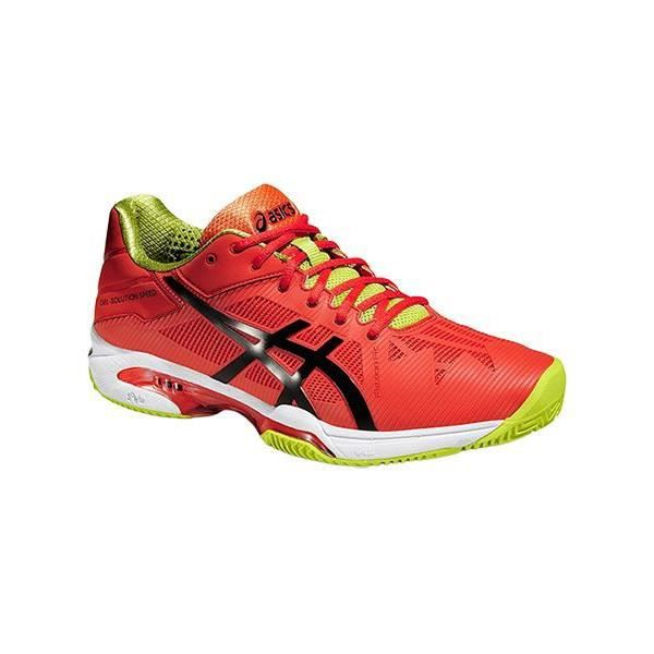 Chaussures Asics Gelsolution Speed 3 Clay 0990 Rouge Rouge - Achat / Vente basket  - Soldes* dès le 27 juin ! Cdiscount