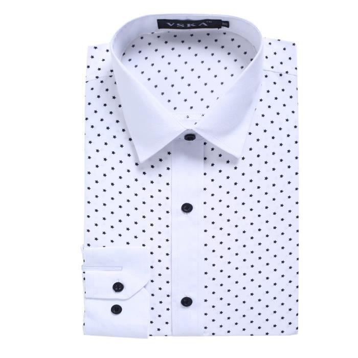 chemise homme imprim pois casual v tement masculin a la. Black Bedroom Furniture Sets. Home Design Ideas