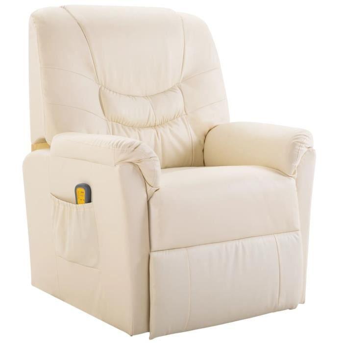 fauteuil de relaxation blanc achat vente fauteuil de relaxation blanc pas cher cdiscount. Black Bedroom Furniture Sets. Home Design Ideas