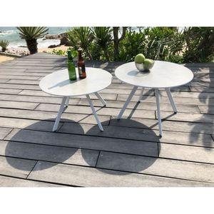 Table de jardin blanc - Achat / Vente Table de jardin blanc pas cher ...
