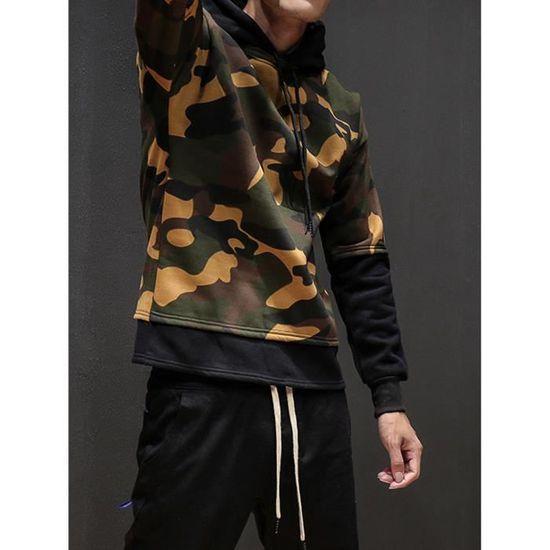 Camouflage Outwear À Manteau Hommes Survêtement Capuchon Pardessus Yini 460 D'hiver Veste SqaUc8c5