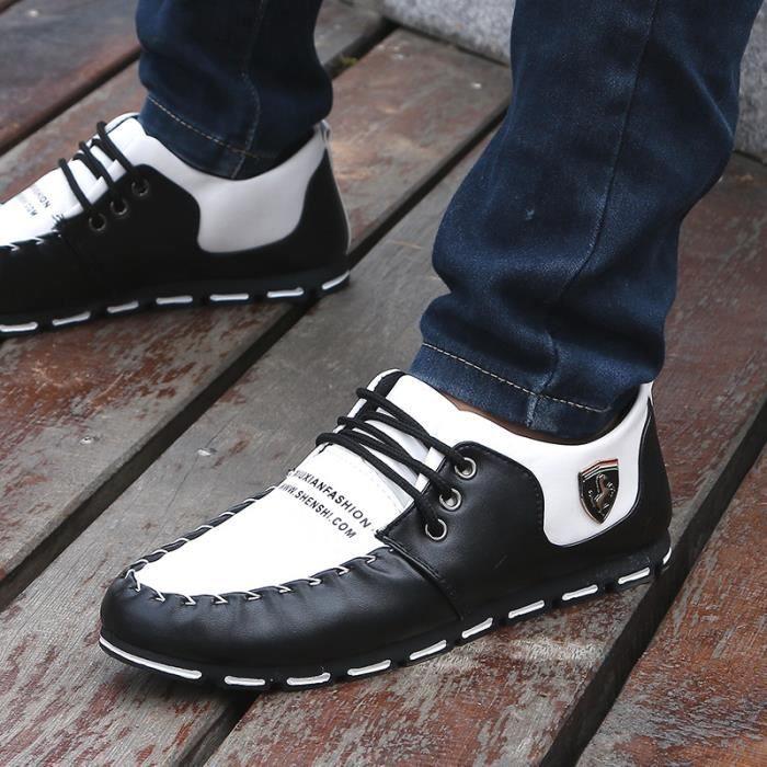 Chaussures basketball pour homme de blanc noir rZg1xHqrw