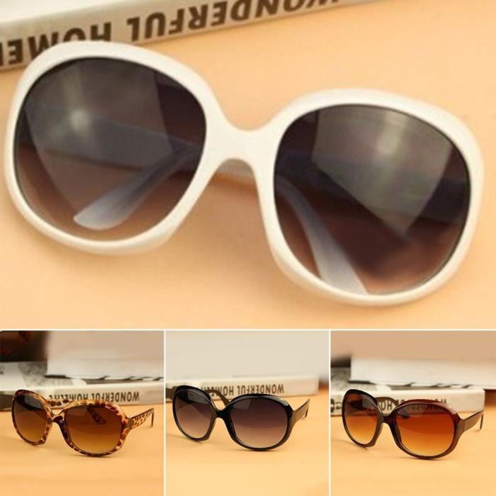 Mode femme Lunettes de soleil Lunettes Black Leopard 2 Brown Sunglass