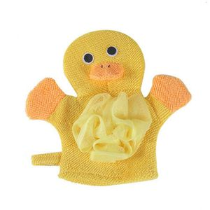 PORTE ACCESSOIRE 1 Pc composé coton enfants bain Gants Frottez Douc