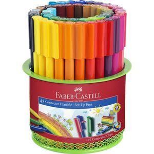 FEUTRES FABER-CASTELL Pot de 45 Feutres Connector - Colori