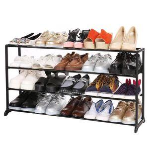 MEUBLE À CHAUSSURES meuble à chaussure amovible Portable 4 niveau chau