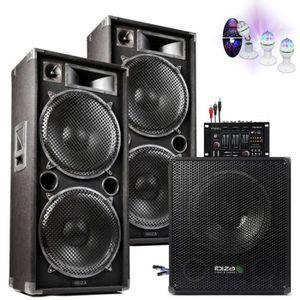 PACK SONO PACK DJ SONO MIXAGE DJ 3800W avec 1 CAISSON + 2 EN