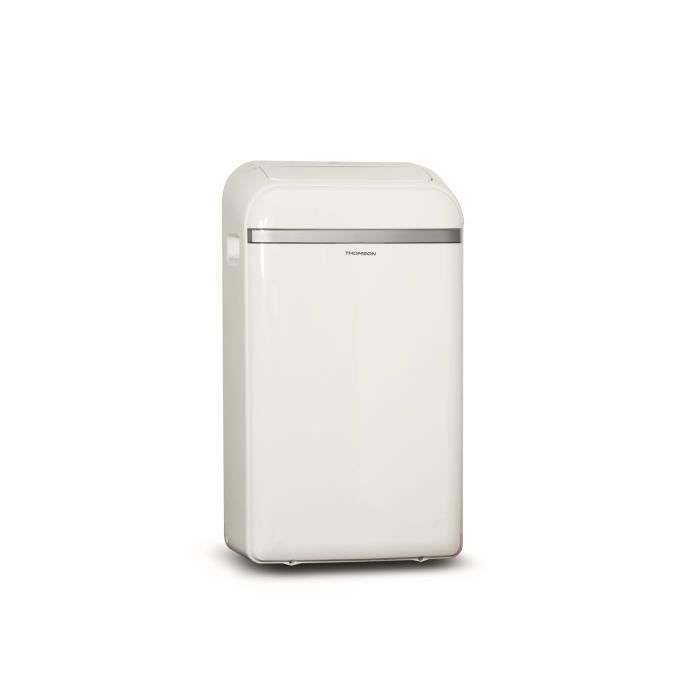 THOMSON 12000 btu Climatiseur mobile électronique reversible - Programmable - 3 vitesses - Blanc