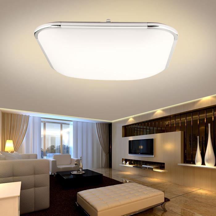 Plafonnier Led Moderne Carre Lampe De Plafond Pour Salle De Bain