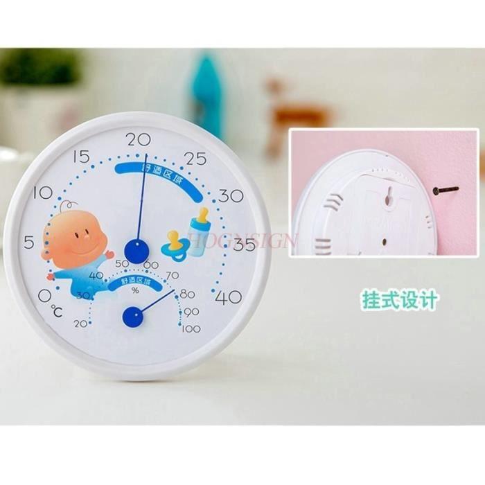 Température et humidité de la chambre de bébé Thermomètres Outil d\'humidité  Thermomètre intérieur Table d\'hygromètre domestique Mont