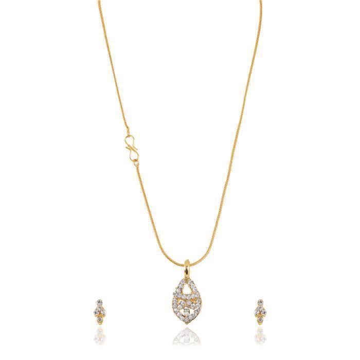 La chaîne en métal dor des femmes Collier Set Pour (gpc017) UREQW