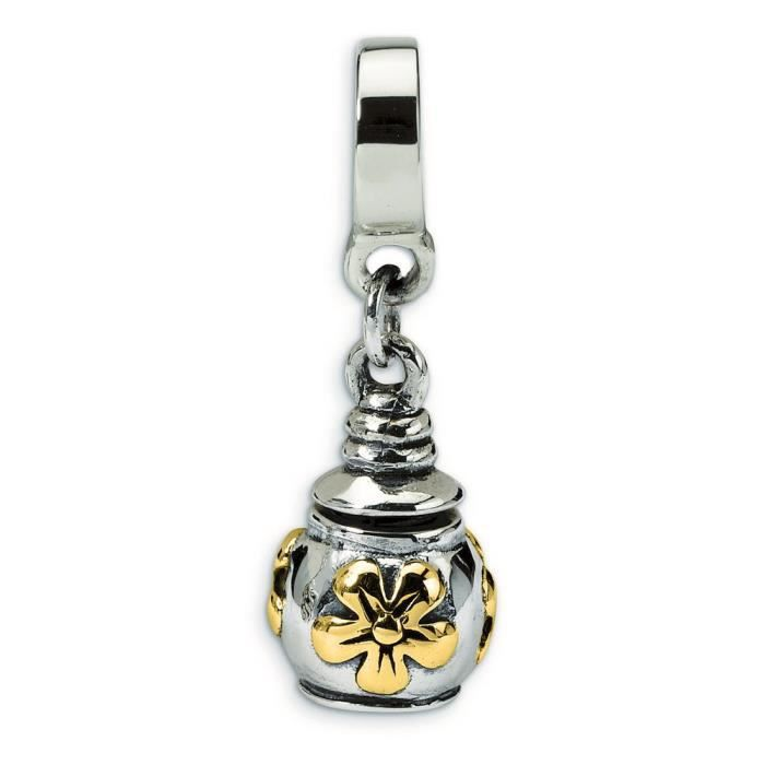 Argent Sterling réflexions 14 carats Perle Fleur Pendentif pour cendres