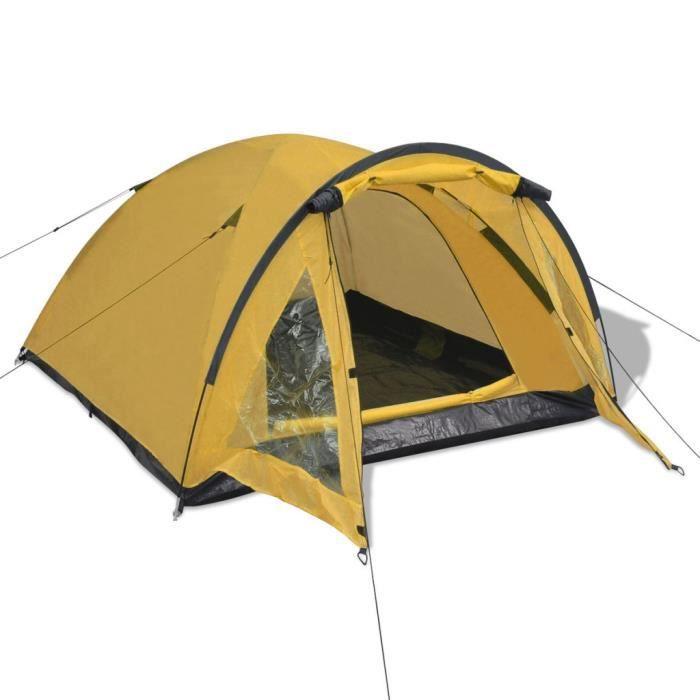 fd5a94ab78646 Tentes Tente pour 3 personnes Jaune - Prix pas cher - Cdiscount