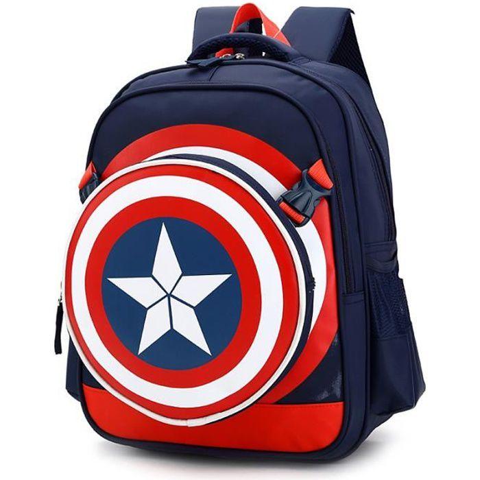 Garçons Captain America Cartable enfants Sac à dos - Achat   Vente ... 65afbcc9d645