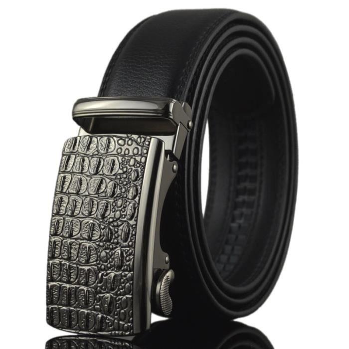 d947db7102f2 Ceinture en cuir ceinture automatique homme boucle nouvelle entreprise  casual ceinture en cuir pur