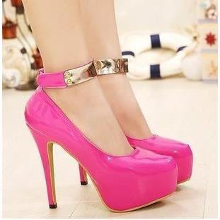 Haut avec talons de chaussures simples coréens chaussures Velcro princesse de boîte de nuit, rouge 39