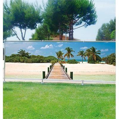 brise vue dco personnalis jardins terrasses et balcons maldives rf 3610 occultation 80 dimensions 340x132cm