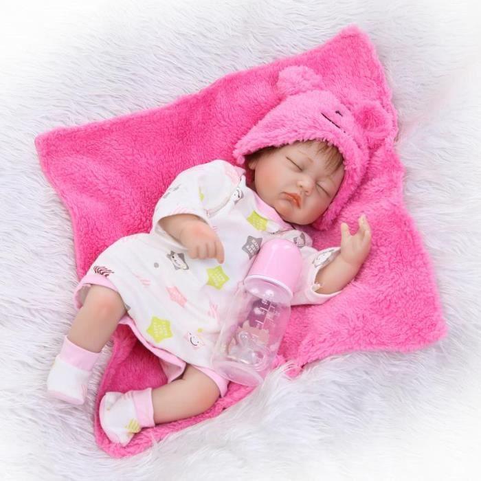 cffca4b49f2f5 NPK 40 cm Bebe Reborn de Couchage Fille Poupées 16 pouce Réaliste ...