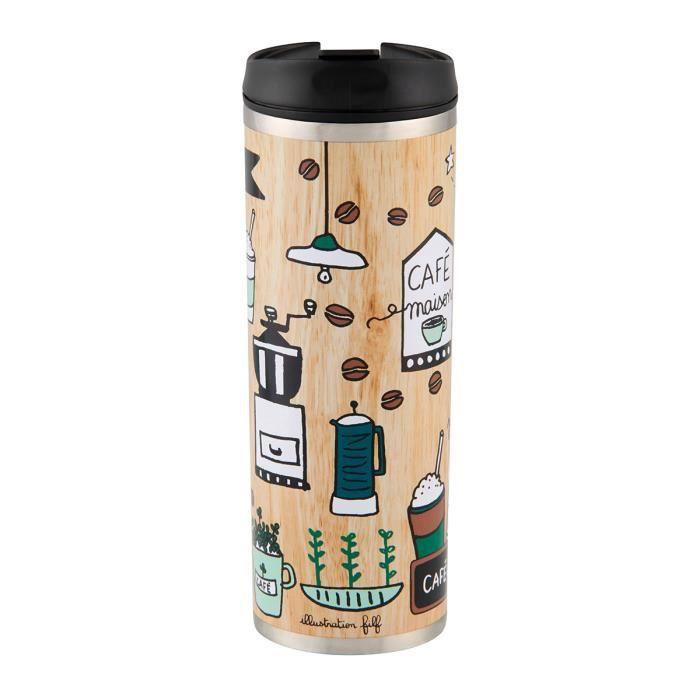 mug de voyage isotherme dÉlices beige - bouteille pour boisson café