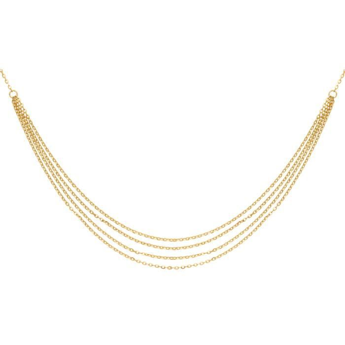 DIAMANTLY Collier multi chaines or 750-1000 - 45.0 cm