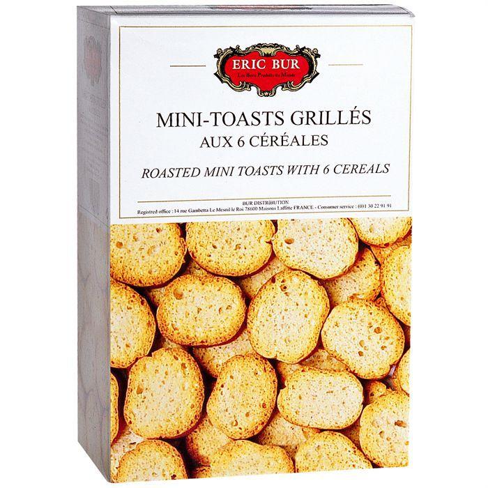 BISCUITS APÉRITIF Toasts grillés aux 6 céréales