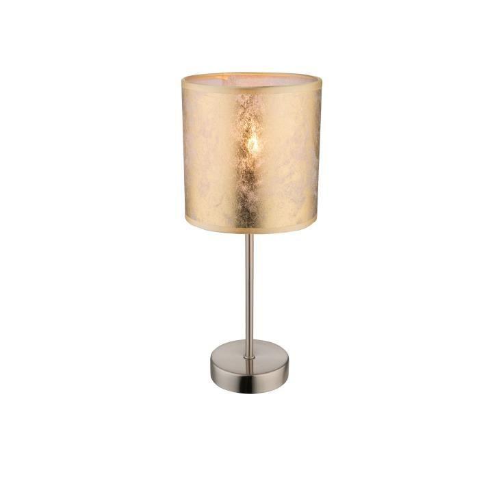 Doré Tissu Ø Lighting Globo H Cm Poser Interrupteur 15 X 35 Lampe Mat À OPXZ8wNkn0