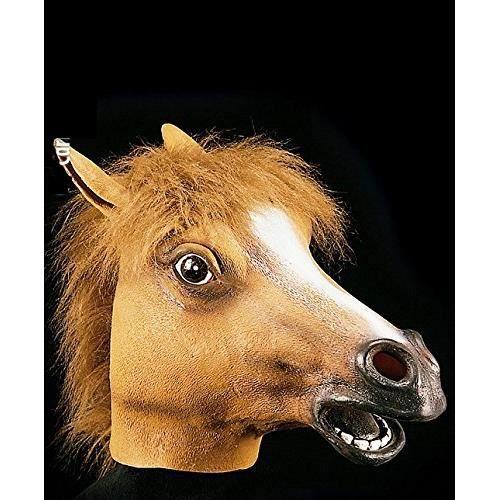 ACCESSOIRE DÉGUISEMENT Masque de cheval , Adulte , Taille Unique , Hallow