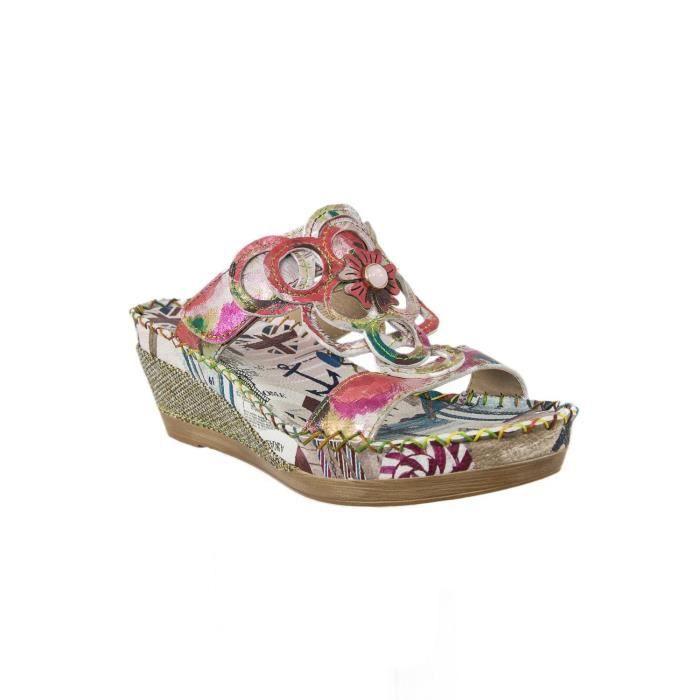 Laura Vita BEATRICE Rouge - Chaussures Sandale