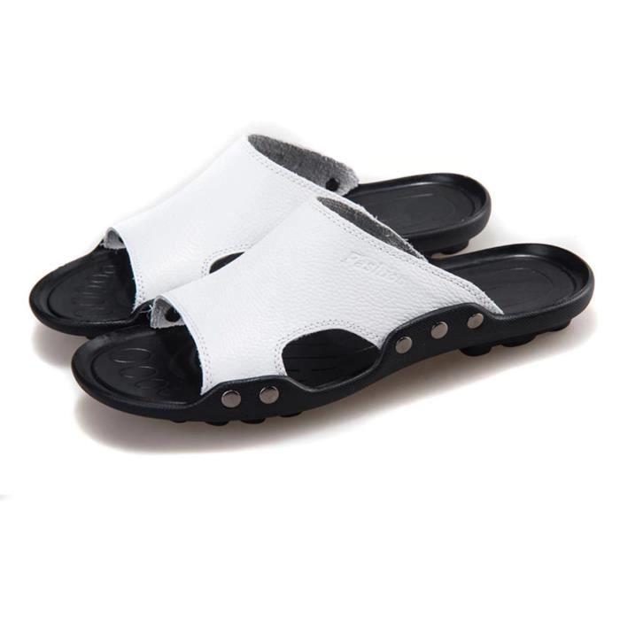 Hommes Sandal Hommes Flops Chaussures Pantoufles Plage Mode Été Des Plat Sandales Chaussons… wApfjSHkyx