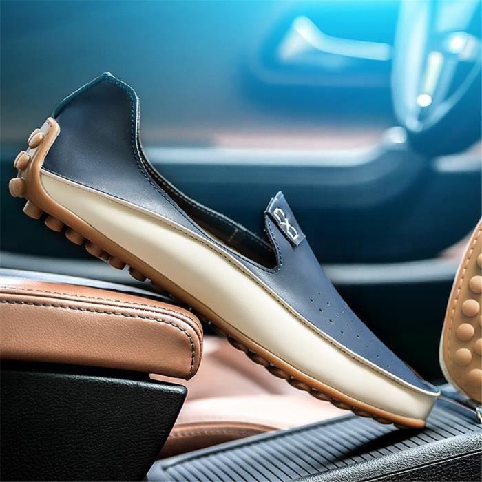 Durable bleu Femme Super Derbies Confortable Jaune Chaussure Cuir 36 Antidérapant Mode Nouvelle 42 Qualité Supérieure TzFq6zw