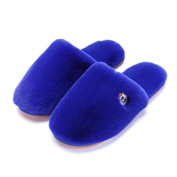 Chaussons Femme Haut qualité Confortable Peluches Chausson Hiver Classique Elégant Plus De Couleur Chaussure Coton Durable
