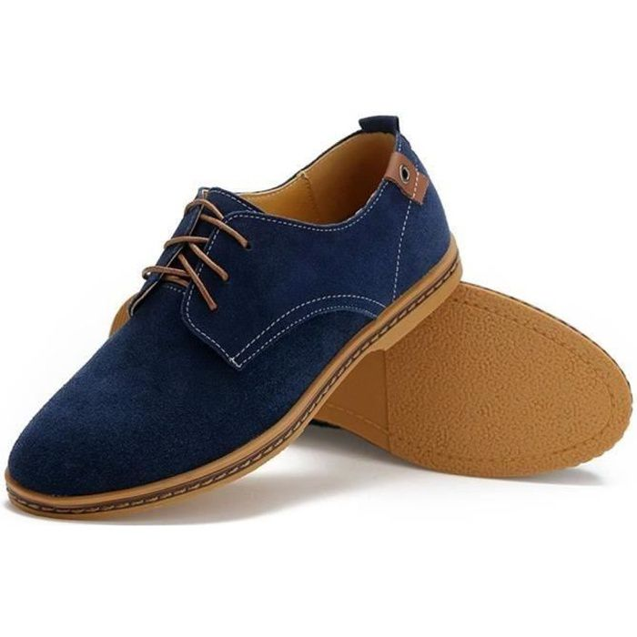 Oxford Chaussure Classic Cuir Mocassins Homme Suede