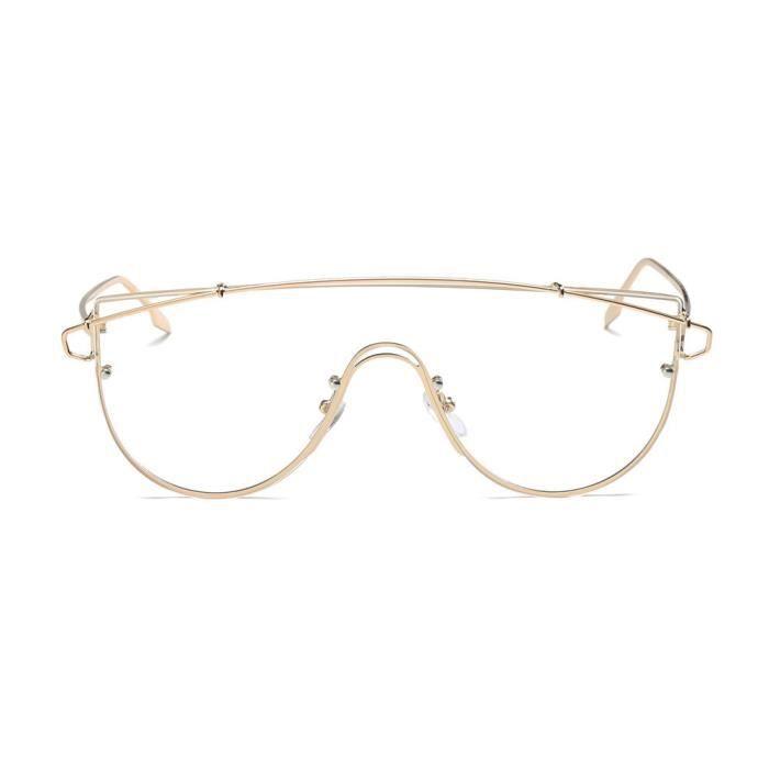 An-1004 Femmes Hommes Vintage Retro lunettes de mode unisexe miroir Aviator Lunettes de soleil F Objectif clair