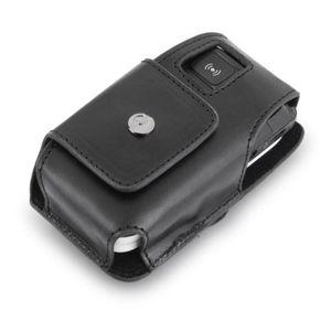 DORO Sac étui pour téléphone portable PhoneEasy 506, 507, 510, 515, 520X - Cuir véritable - Noir