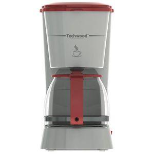 TECHWOOD TCA-685 Cafeti?re filtre - Gris et Rouge