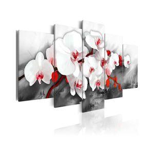 TABLEAU - TOILE Tableau Orchidée Unique - Dimension - 100x50.