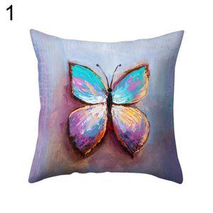 HOUSSE DE COUSSIN Housse de coussin multicolore en forme de papillon