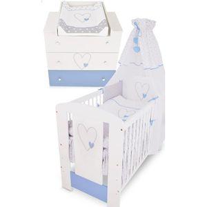 CHAMBRE COMPLÈTE BÉBÉ BB Berceau bébé lit bébé cododo 120 x 60 cm cœur b
