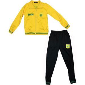 d96cdb9f7fe71 ... foot Brésil enfant jaune news Taille de 4 à 14 ans. SURVÊTEMENT  Survetement - Jogging De Sport - NPZ - Jogging sur